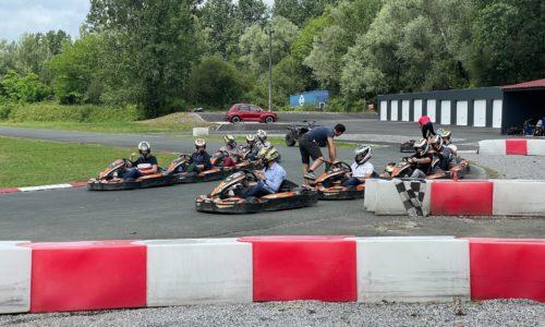 début de la compétition de karting, juin 2021